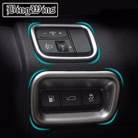 Car styling Interior headlight switch Cover trim For KIA K5 2016 Lighting controller Button trim Sequin Decoration Accessories