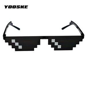 YOOSKE работает с очками, мозаика Pixel Thug Life, солнцезащитные очки для мужчин, очки для вечеринки, безделушкая, thug life, популярная во всем мире
