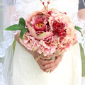high quality hand holding the bride wedding bouquet Peony naked pink simulation Brooch Bridal Wedding Bouquet