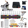 starter tattoo  kits 1 machine 10  tattoo ink sets power supply  K4NS