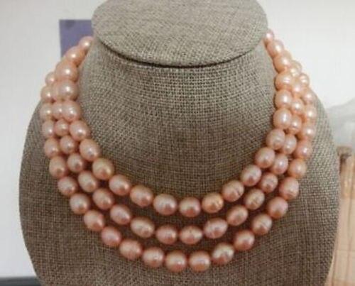 10x10 bijoux livraison gratuite>>> énorme AAA 11-13mm mer du sud rose collier de perles naturelles 51 pouces vente