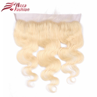 Dream Beauty 613 Full Blonde Brazilian Remy Human Hair Lace Frontal Closure Free Part Body Wave 13x4 Bleached Knots Baby Hair