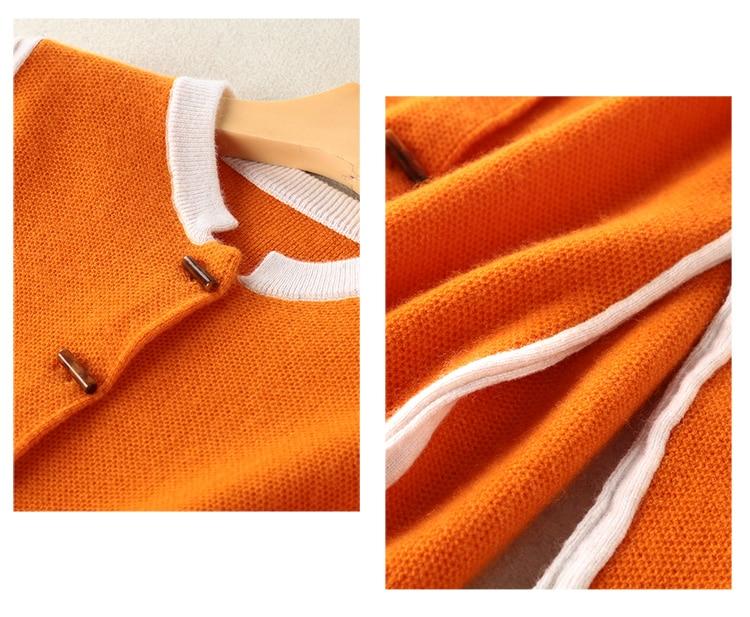 Cachemire Chandails Dames À Hiver Oneck Laine Vêtements Cavaliers Filles Red Femme 100 2018 Et yellow Orange Tricots Femmes Tricoter Cardigans gqwy0556xt