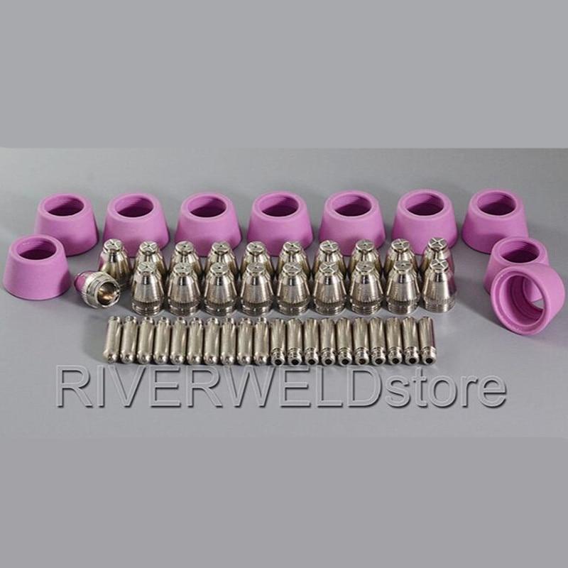 SG 55 AG 60 Plasma Cutter Cutting Consumables TIPS 0 9 40Amp KIT 50pcs