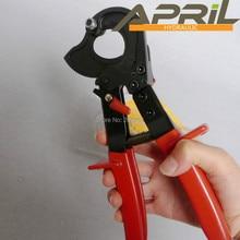 HS-325A 240 мм ручной храповой резак для кабеля плоскогубцы трещотка резак для проводов ручной инструмент Ручные плоскогубцы для большого кабеля красного цвета