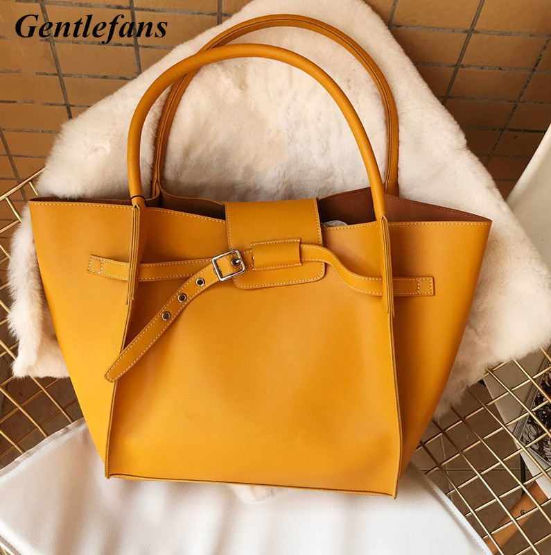 Classic women bags Yellow Soft Genuine Cow Leather fashion shopping bags Mommy bag Nappy Bags Large