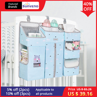 SUNVENO Portable Baby Crib Organizer Bed Hanging Bag for Baby Essentials Diaper Storage Cradle Bag Bedding Set