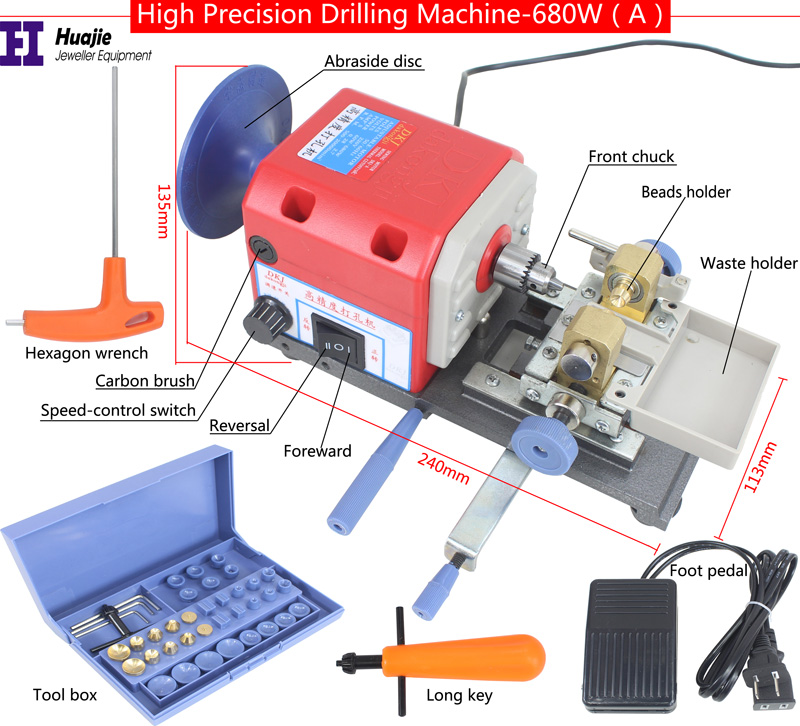 Promotion! Super Multifunctional Beads Holing/Drilling/Polishing Machine 220V/680W, Jewelry Tool & Equipment