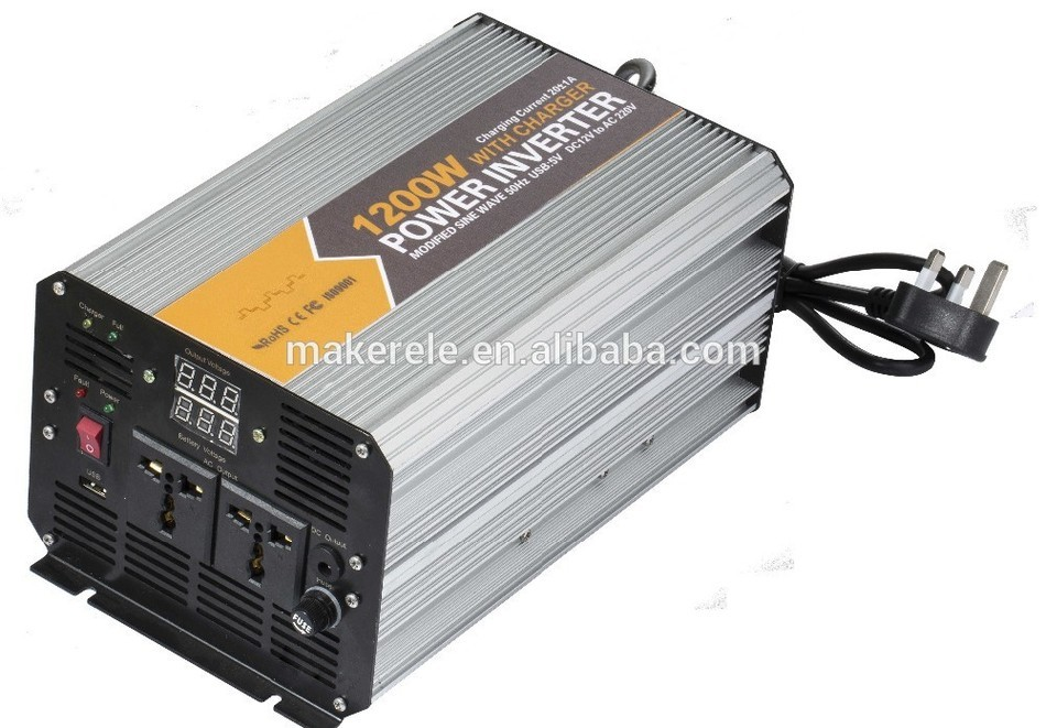 MKM1200-122G-C modified sine wave 1200w electric power inverter 12v 230v inverter,home inverters 12 inverter power with charger