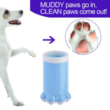 Saim Dog Paw Plastic Pet Foot Cleaning Cup for Smalls Dogs Blue Pink Cat Puppy Cleaner Bucket Accessories