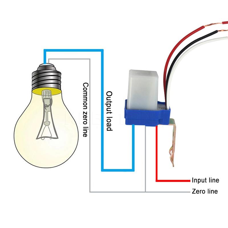 Automatic Auto On Off Photocell street Light Switch Photo Control Photoswitch Sensor DC AC 220V