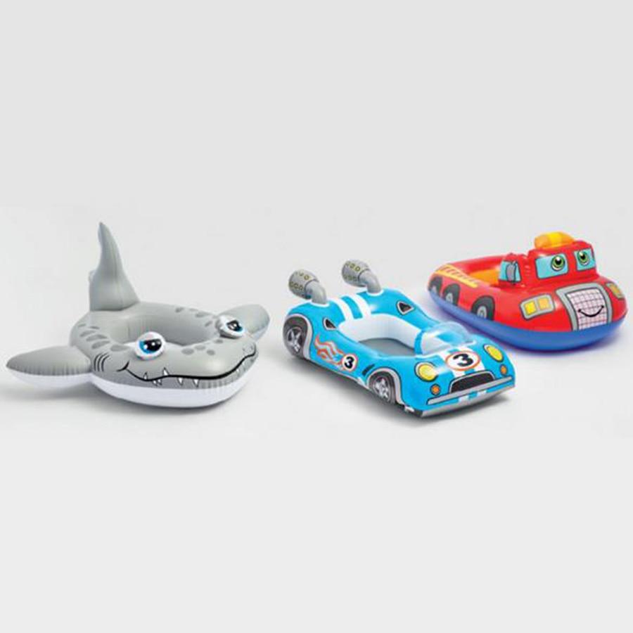 Floating Inflatable Swim Ring Kids Swimming Tube Transparent Pool Ring Cartoon Shark