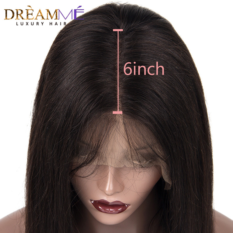 Image 4 - 13*6 Deep Part Lace Front Human Hair Wig For Black Women PrePlucked Brazilian Deep Wave Wig With Baby Hair Remy Wig Full End-in Human Hair Lace Wigs from Hair Extensions & Wigs