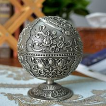 ElimElim Ancient Metal Crafts Globe Ashtray Room Decoration home decor Gift for Father