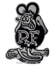 "3.75"" BIG DADDY RAT FINK CAFE RACER HOT ROD MC OUTLAW CHOPPER MOTOR Skull Embroidered IRON ON PATCH BIKER VEST LEATHER JACKET(China)"