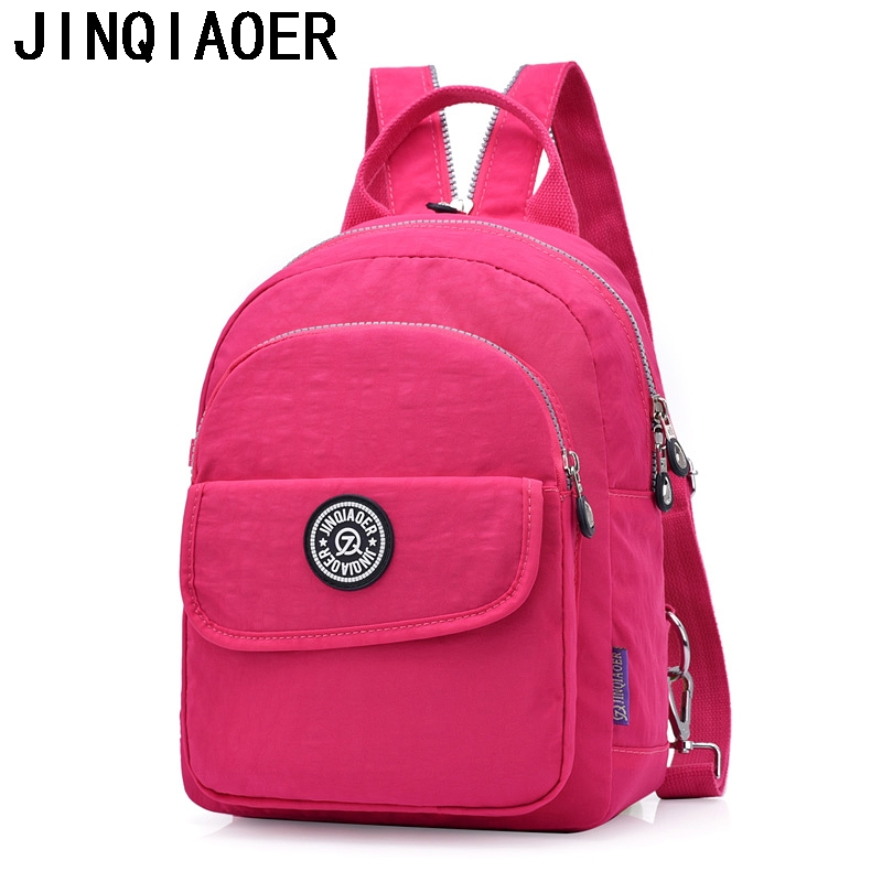 цены на Small Backpack for Teenage Girl Shoulder School Bags Bolsa Mochila Feminina Escolar Casual Nylon Waterproof Chest Women Bagpack в интернет-магазинах