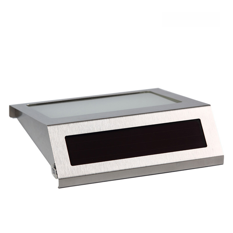 Нержавеющаясталь солнечный свет светодиодный освещения светодиодный Doorplate лампы Открытый дом номер Солнечная квартира количество света