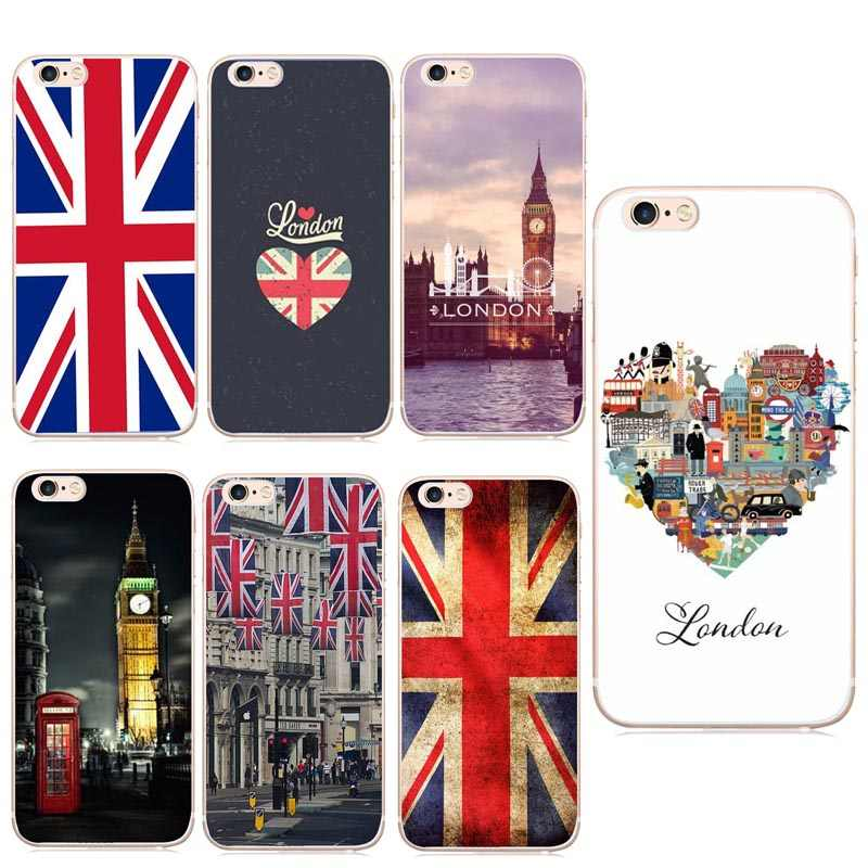 Flag United Kingdom London Hard Cover Case For Apple iPhone 8 7 6 ...