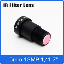 "4K Lens 12Megapixel M12 1/1.7"" 5mm For SJCAM Xiaomi Yi Gopro Firefly Eken Action Camera DJI Runcam Drone UAVS"
