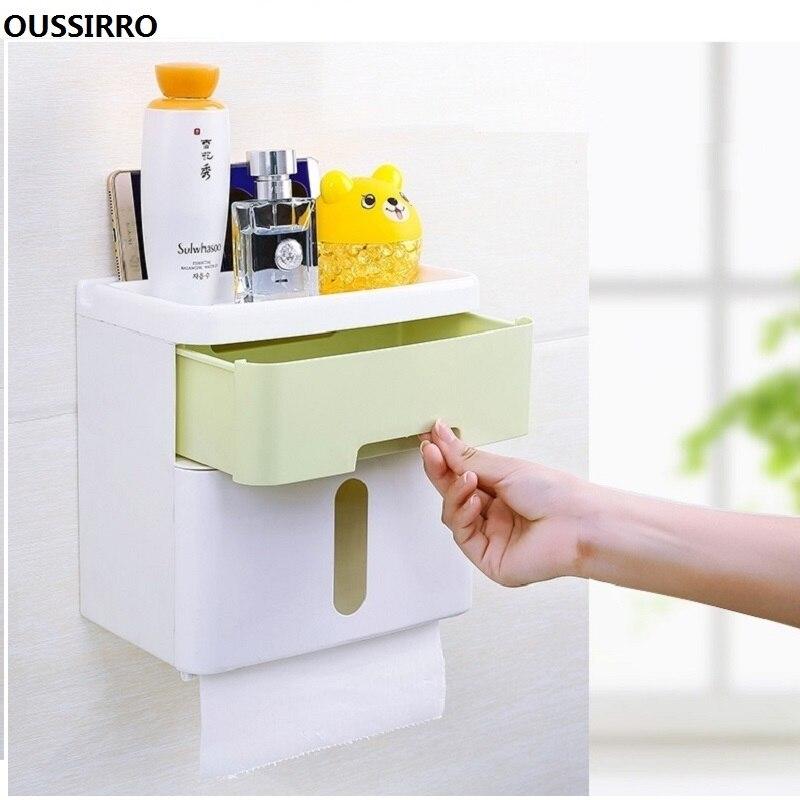 Multi function Tissue Box Bathroom Accessories Toilet Paper Holder Lavatory closestool Toilet Paper Dispenser Tissue box in Tissue Boxes from Home Garden