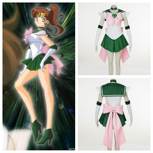 Super'S Сейлор Мун аниме косплей Сейлор Юпитер Кино Макото косплей хэллоуин женщины костюмы