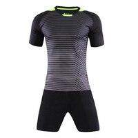 New Autumn Men S Short Sleeve Football Jersey Uniform Double Pockets Soccer Uniforms Team Training Suits