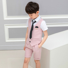 LUOBOBEIBEI Baby Boy Wedding Suit Summer Child 3 Pieces For Boys Children Costume School  Suits