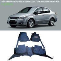 Floor Mats Carpets Foot Pads Covers Kit For Suzuki SX4 Sedan Hatchback 2006 2013