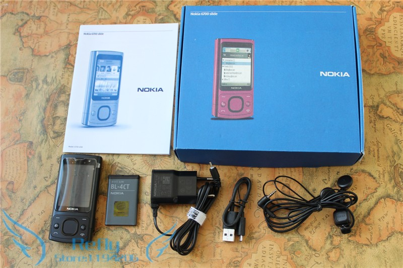 Refurbished phone NOKIA 6700s Mobile Phone Camera 5.0MP Bluetooth Java Unlocked 6700 slide Phone purple 7
