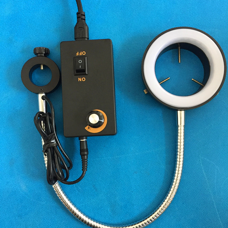 Instrument and equipment dedicated LED white light Metal hose to adjust the brightness Microscope lateral lighting Diameter 60mm наушники frends the light straight white