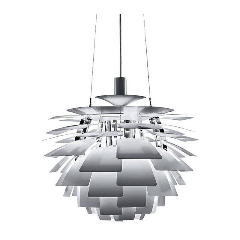 Free Shipping Modern Led Pendant Light Aluminium Leaves White Painting D45cm Designer Lighting for Dinning Room