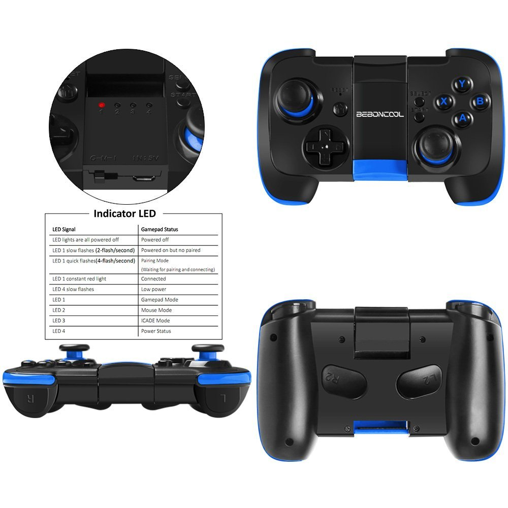 Bluetooth Game Controller Wireless Gamepad or S6 Edge, S7