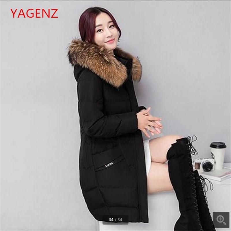 the latest 7236b fe49e US $34.9 50% di SCONTO Cappotti invernali per le giovani donne di Grandi  dimensioni collare capelli Pesanti Ispessimento giacca Invernale Con ...