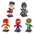 Nuevo Mini Ladrillos Bloques Huecos de Super Heroes Justice League Batman v Superman Spiderman Juguetes Educación Compatible Con El regalo