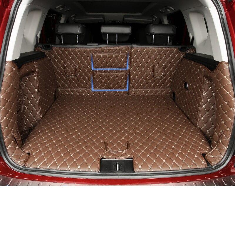 Lsrtw2017 Luxo TPE XPE Floor Mat Tronco de Couro Do Carro de Fibra para Trumpchi Gs3 Gs7 2017 2018 2019 2020