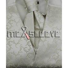 Wholesale Men s Suit Tuxedo Dress Vest and ascot tie Set NEW tea length wedding dress