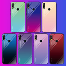 For Asus ZB633KL Case Gradient Plastic Soft TPU Silicone Frame+Tempered Glass Colorful Case For Asus ZB631KL ZB601KL Back Cover