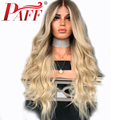 PAFF 4T/613 Two Tone Ombre Blonde Natural Wave Human Hair Wig Silk Top Full Lace Glueless Wigs Pre Plucked Bleached Knots