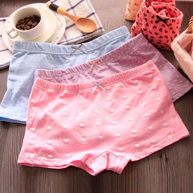 Girls Cotton Boxer Shorts Cute Print Panties Young Girls Briefs Casual Children Underwear Teenage Panties Calcinha Infantil