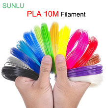 SUNLU-filamento PLA de impresión de bolígrafo 3D, 1,75mm, envío gratis, 10M, colores completos para elegir