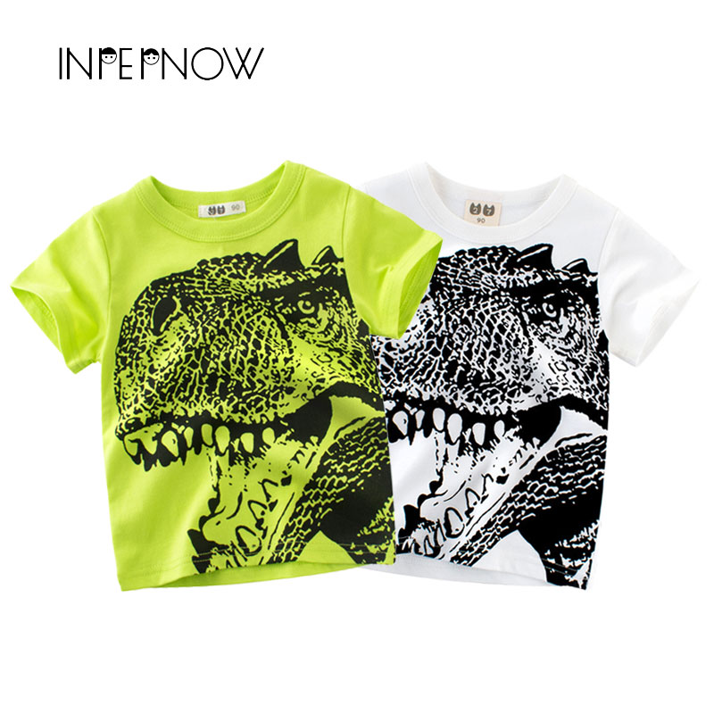 INPEPNOW [IN STOCK] T Shirts for Boys Tshirts Kids Dinosaur Clothes Jurassic Children T-Shirts for Girls Clothing Top DX-CZX40(China)