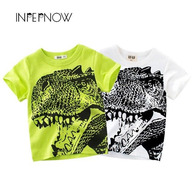 INPEPNOW [במלאי] חולצות T בני Tshirts ילדי בגדי דינוזאור יורה ילדי חולצות בנות בגדים למעלה DX-CZX40