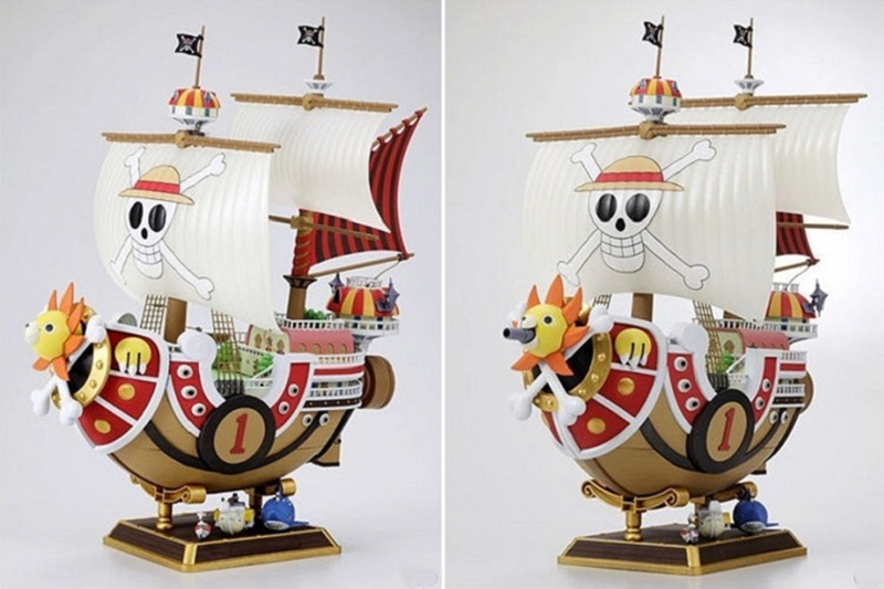 Anime One Piece Thousand Sunny & Meryl Boat Pirate Ship Figure PVC Action Figure Toys Collectible Model Toy Gifts new hot christmas gift 21inch 52cm bearbrick be rbrick fashion toy pvc action figure collectible model toy decoration