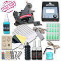 Complete Tattoo Kit With Fine Lining Tattoo Machine Set Guns Power Inks Supplies