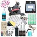 Kit de Tatuagem completo Com Belas Forro Máquina de Tatuagem Conjunto de Tintas Suprimentos De Armas