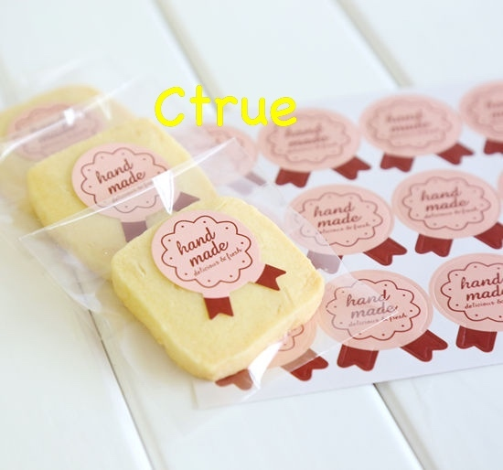 Ctrue Wholesale 600pc Handmade Sticker Labels Seals Paper Gift Tags Snack And Cookies Packing