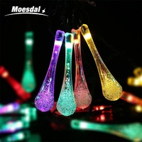 20 30 50LED Holiday Decorations Solar Water Drop Lights LED Lights Wedding Christmas Party Outdoor Interior