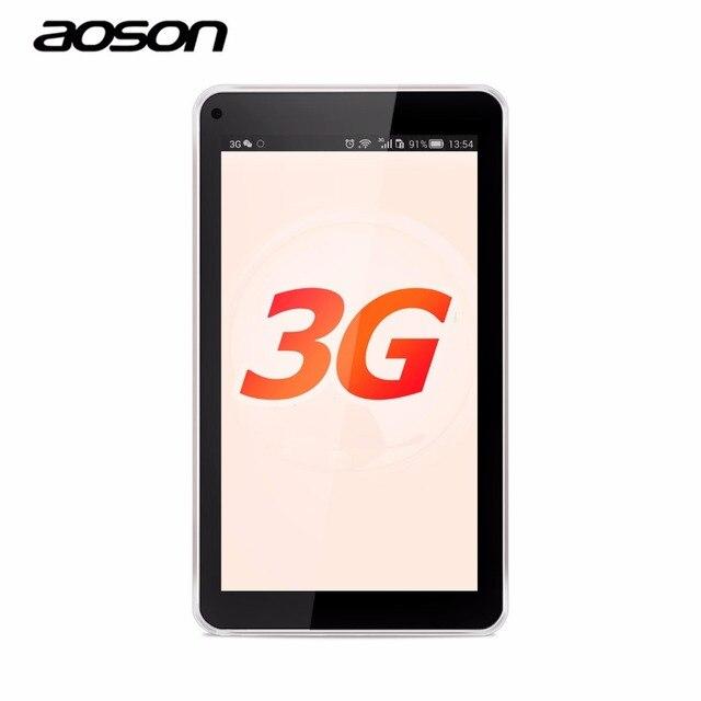 Горячая 3 Г Фаблет Aoson S7 7 дюймов Планшетный ПК IPS Android 5.1 Quad Core 8 ГБ + 1 ГБ Двойная Камера Телефонный Звонок ПК Таблетки GPS Bluetooth wi-fi OTG