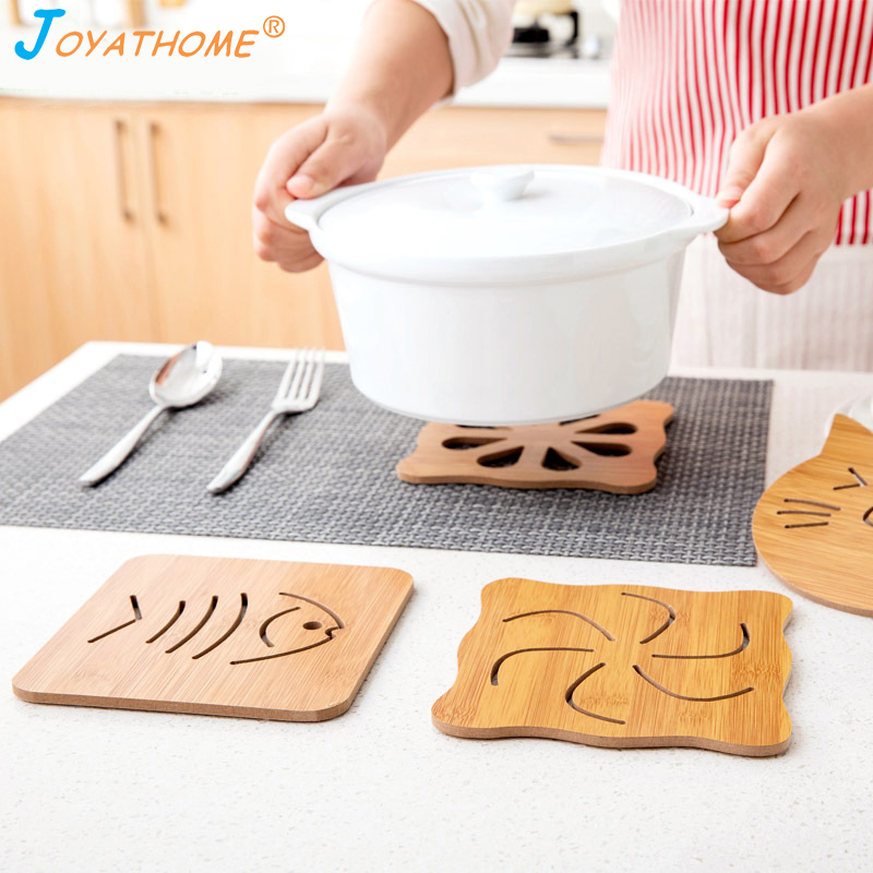 Joyathome Mat-Holder Coaster Isolation Bamboo Cooking Kitchen Heat-Resistant Cartoon
