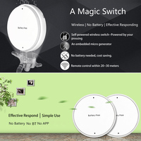 Portable 1 Gang Battery Free Self Powered RF 433MHz Wireless Remote Control Lamp Switch With Receiver
